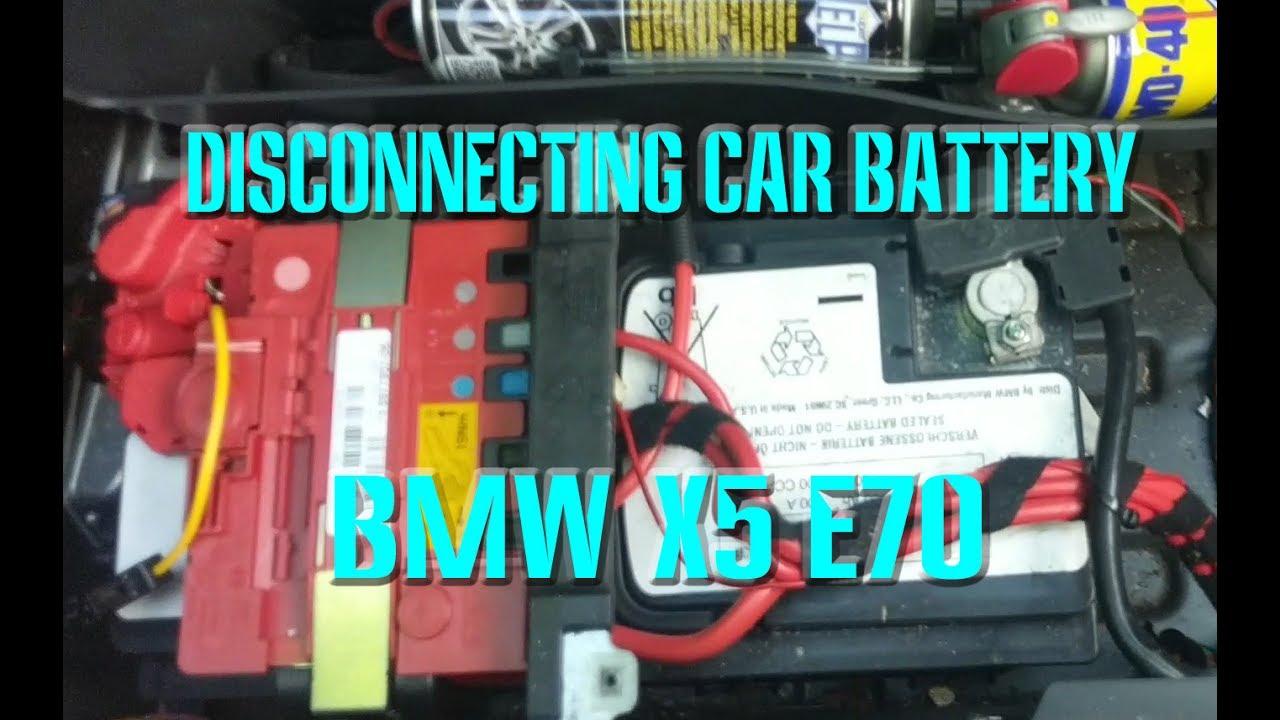 Bmw X5 Battery >> BMW Battery Disconnect E70 X5 - YouTube