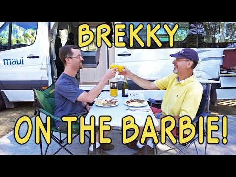 Brekky on the Barbie! Australia Campervan Breakfast