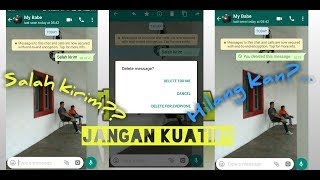 Hapus Pesan yang Sudah Terkirim di WhatsApp, Jadi Aman saat Salah Kirim