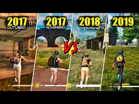 Free Fire - Evolution of the game   2017, 2018 and 2019 HD