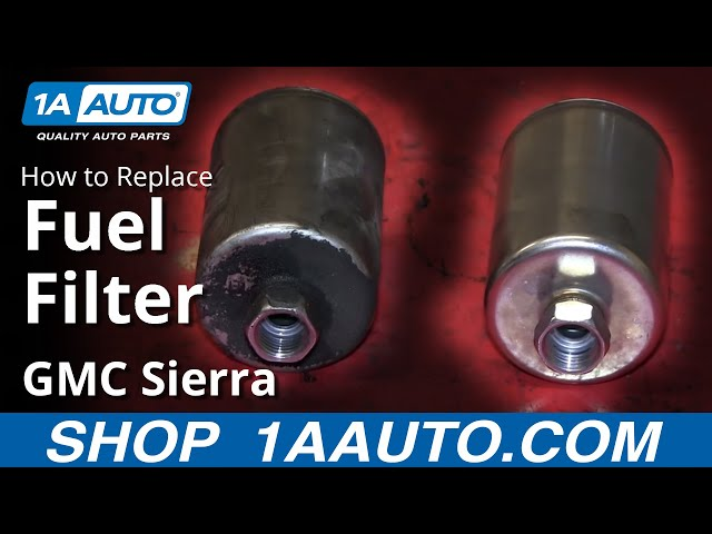 how to replace fuel filter 01 03 gmc sierra 2500 hd 1a auto how to replace fuel filter 01 03 gmc sierra 2500 hd