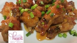 Sweet and Sour Chicken Wings  I Heart Recipes