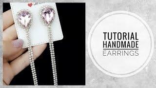 #МК - Серьги гвоздики своими руками | #Tutorial - Handmade earrings