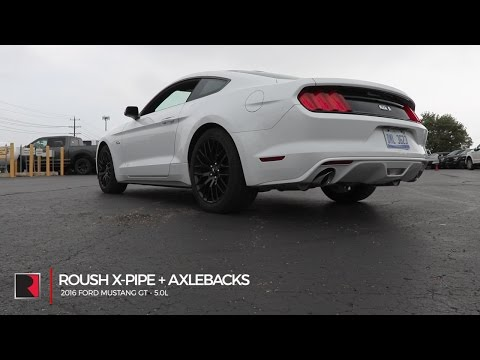 2015-2019 Mustang GT 5.0 Roush Stainless Steel Exhaust Resonator Delete X-Pipe