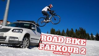 Road Bike Parkour 2 - Snow Ride(Road Bike Parkour 2 - Snow ride by Max Schrom is out now! Inspired by the big Road Bike Party and Freestyle films we searched for new ideas and we found ..., 2015-12-17T14:02:01.000Z)