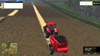 farming simulator 2015 case ih roll belt 455 baler mod