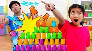 Emma Pretend Play Sleepwalking Story | Funny Family Fun Kids Video