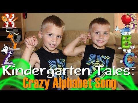 Twins Sing Alphabet Backwards || Kindergarten Tales