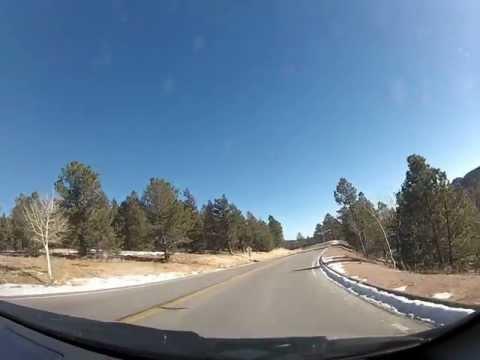 The drive down from Pikes Peek, Colorado Springs, Colorado.