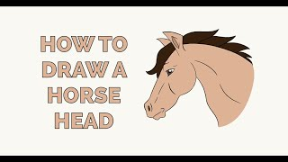 How to Draw a Horse Head in a Few Easy Steps: Drawing Tutorial for Kids and Beginners