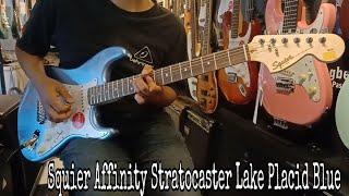 Squier Affinity Stratocaster Lake Placid Blue ( Sound Sample )