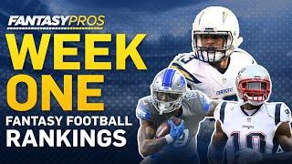 Week 1 Fantasy Football Rankings (2019)