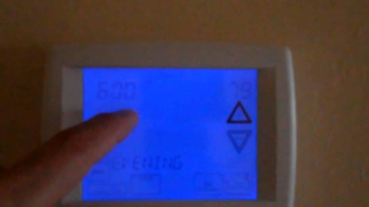 3 of 7 basic programming of rheem 500 series comfort control2 rh youtube com rheem 300 series thermostat instruction manual Rheem 2 Stage Thermostat