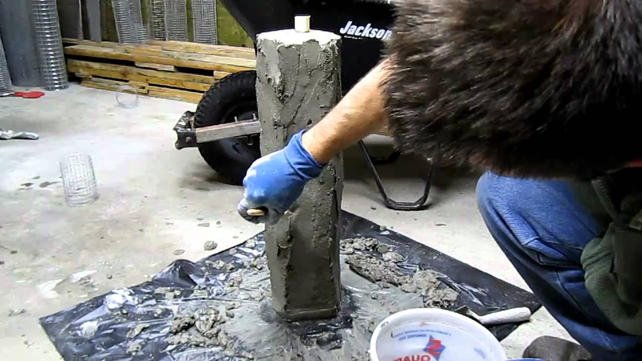 Hand Sculpting Concrete Stone Garden Light - YouTube