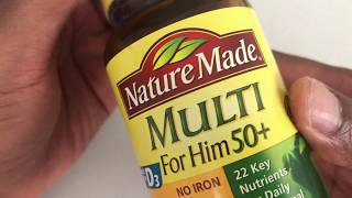 Nature Made multivitamin for him +50 unboxing