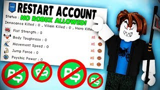 MAKING A NEW ACCOUNT AND USING NO ROBUX CHALLENGE (fr) Simulateur d'entraînement Super Power (ROBLOX)