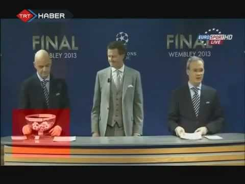 Controversial Behaviour at UEFA Champ League Draw Ceremony