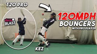 FACING 120MPH BOUNCERS WITH A CURRENT PRO T20 CRICKETER - Extreme Batting Challenge