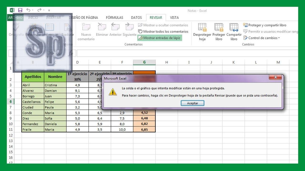 Excel   Bloquear celdas y ocultar fórmulas en Excel. Tutorial en Español HD