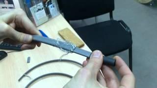 Саморегулирующийся кабель Lavita, заделка холодного конца(Установка первой термоусадочной трубки на холодный конец самрега., 2015-10-28T08:57:01.000Z)
