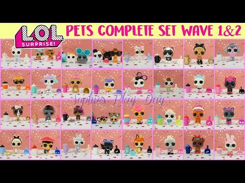 LOL Surprise Pets Series 3 Wave 1 and Wave 2 Complete set, All Gold Balls found!!