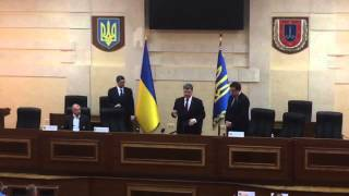 Порошенко назначил Саакашвили одесским губернатором и дал гражданство