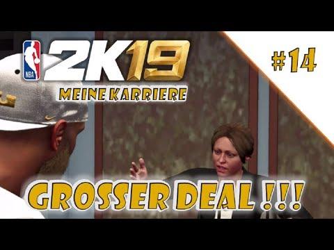 NBA 2k19 Karriere #14   erster großer Werbedeal   100k Fans   gameplay   PS4   deutsch