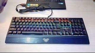 Aula Wings of Liberty Rainbow Mechanical Keyboard