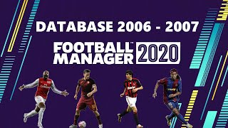 DATABASE SEASON 2006 2007 | CALCIOPOLI by MadScientist | FOOTBALL MANAGER 2020 MOD