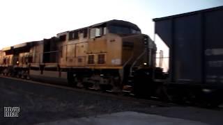 EMERGENCY! Hopper Bay Opens on a Moving Coal Train!