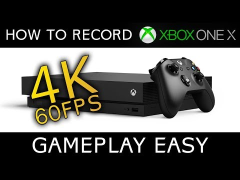 How To Record 4K 60fps Gameplay on Xbox One X (No Capture Card Required)