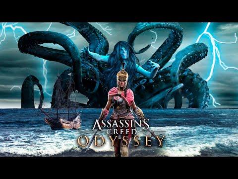 """AC Odyssey: Капитан-ОСЬМИНОГ, Харибда, Гидра, Варнава и СИРЕНЫ (Мифические существа в """"Одиссее"""")"""