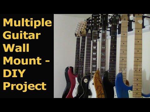 Hang Guitars on the wall