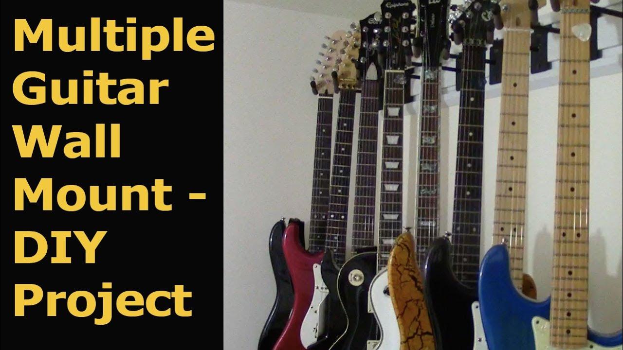 Hang Guitars on the wall YouTube