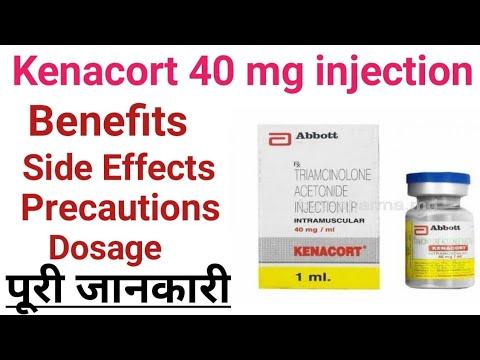 Kenacort injection oil pump