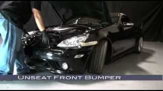 Spyder Auto Installation: Mercedes Benz R171 SLK 05-10 ( HID Type ) Head Lights + Bumper Removal