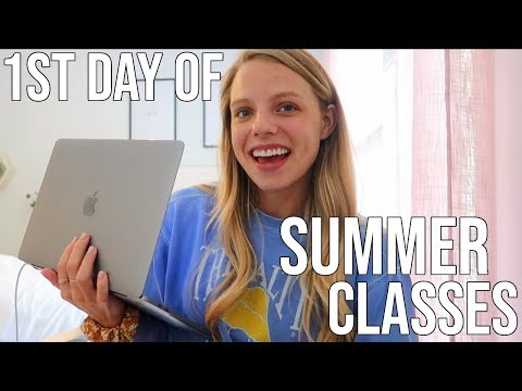 First Day Of My Summer Classes Vlog!!