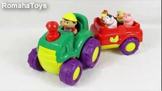 Обзор игрушки. Музыкальный трактор с прицепом 31222 Keenway
