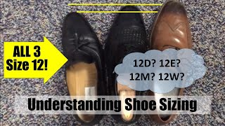 How to size shoe lengths and widths