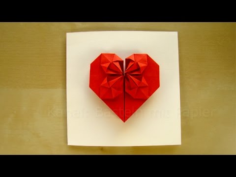 Origami Heart - How to make a Heart with paper - Easy tutorial - DIY