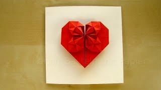 Geschenk basteln: Origami Herz selber machen - Basteln mit Papier - DIY Geschenkideen