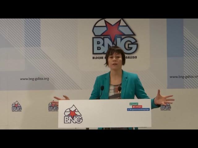 """Ana Pontón """"É decepcionante ver a PSOE e Marea bailar ao son que marcan PP e Ciudadanos"""""""