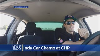 Indy Car Drivers Test Skill On California Highway Patrol Track