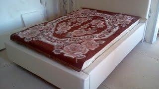 Как сделать кровать своими руками в домашних условиях(Небольшая краткая инструкция в виде фото по изготовлению двуспальной кровати с обивкой из кожзама. Легко..., 2015-11-09T20:14:09.000Z)