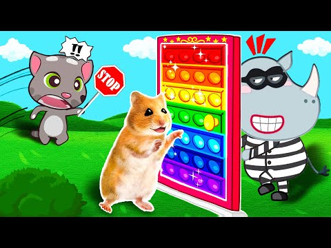 No No Hamster, Watch Out for Dangers! - Pop It Cartoon Hamster by Life Of Pets Hamham |