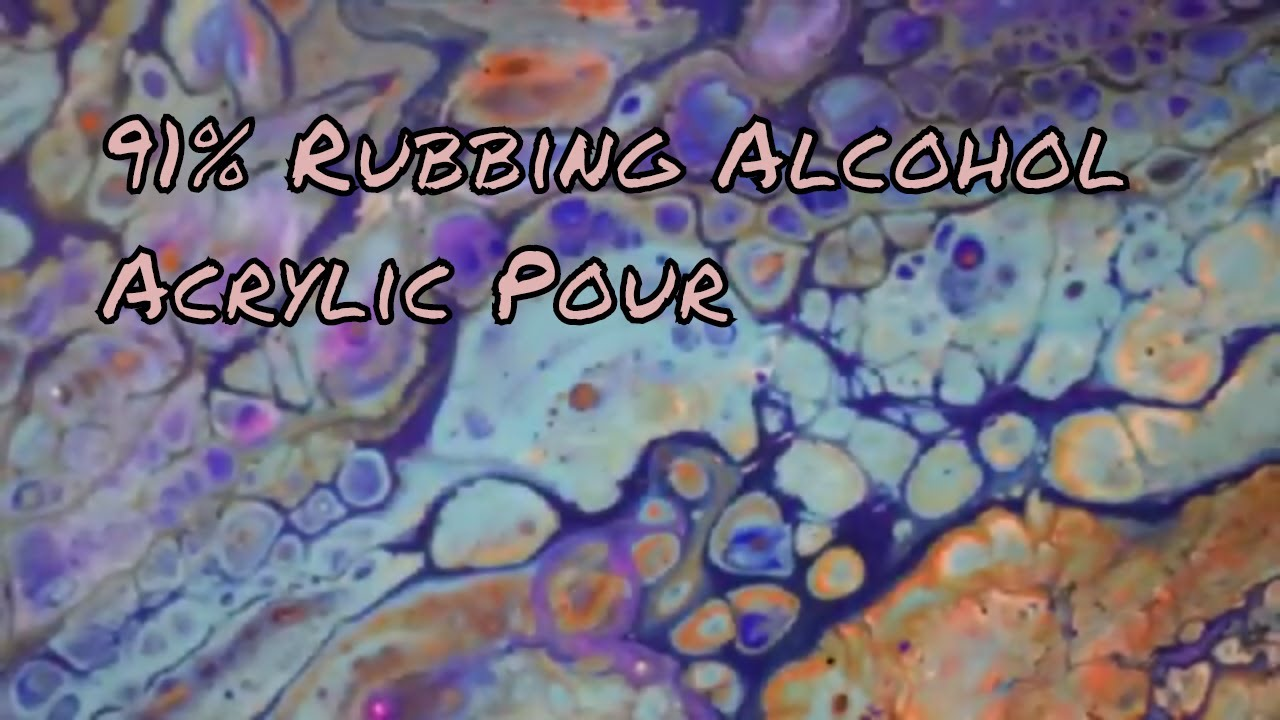 Flip Cup | Acrylic Pour | 91% Rubbing Alcohol | Dirty Pour | Fluid Painting  | Jasvir Kambo