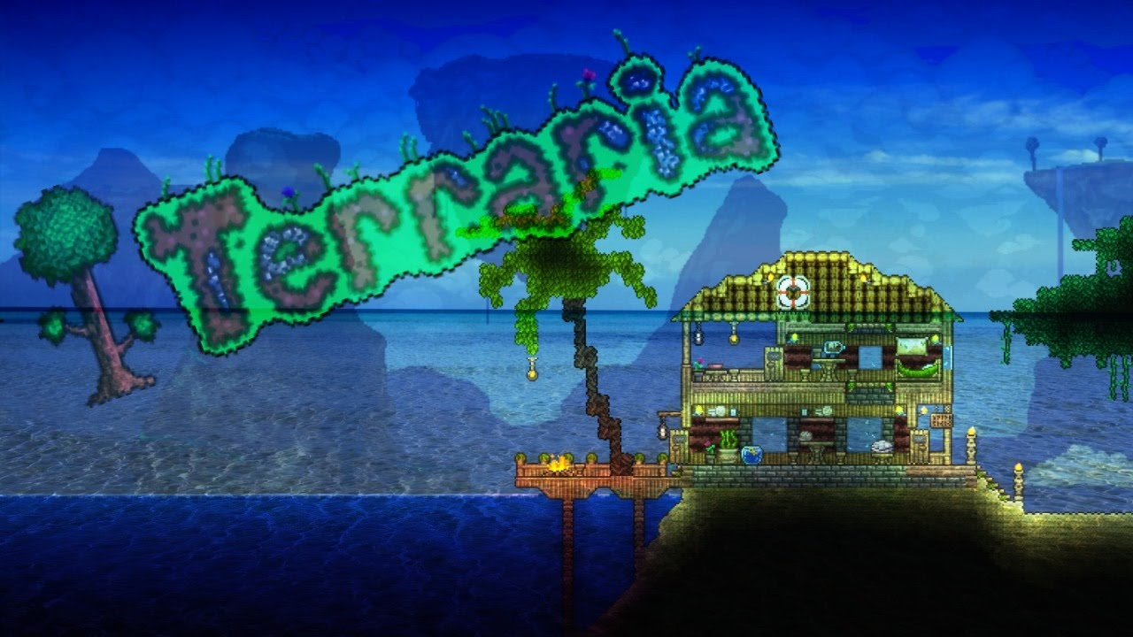 Terraria how to build beach house 1080p60 youtube for How to build a beach house