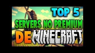 TOP 5 SERVERS DE MINECRAFT NO PREMIUM-1.12.2/1.8 -EGG WARS, BUILD BATTLE, SKY WARS Y MAS-ENERO 2018