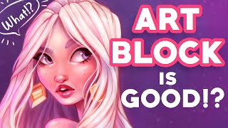 ART BLOCK is a GOOD thing!? 😱 | What I learned from Art Block + Speed Painting