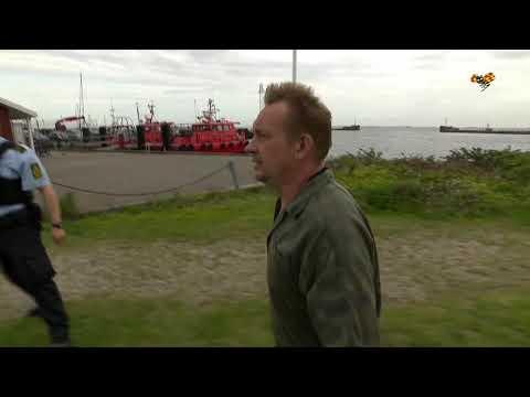 Danks TVs intervju med Peter Madsen när han kom i land.